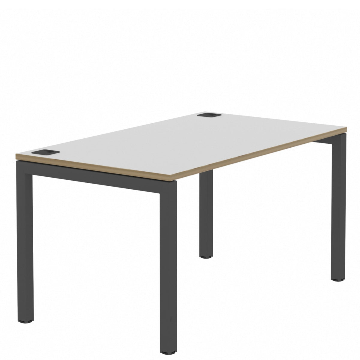 Elite Office Matrix Desk 1400mm Grey MX with Plywood Edge