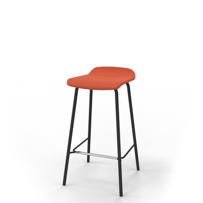 Edsbyn Office Upholstered Stool 650mmH Orange