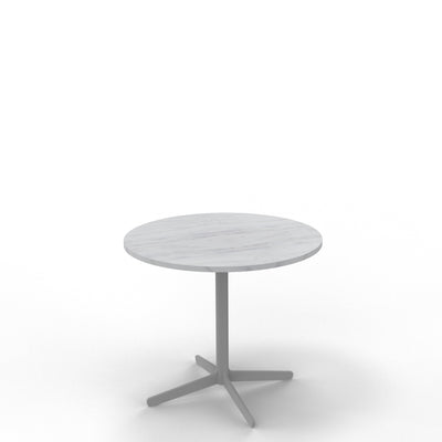 Edsbyn Bianco Carrara Marble Coffee Table with Silver Base