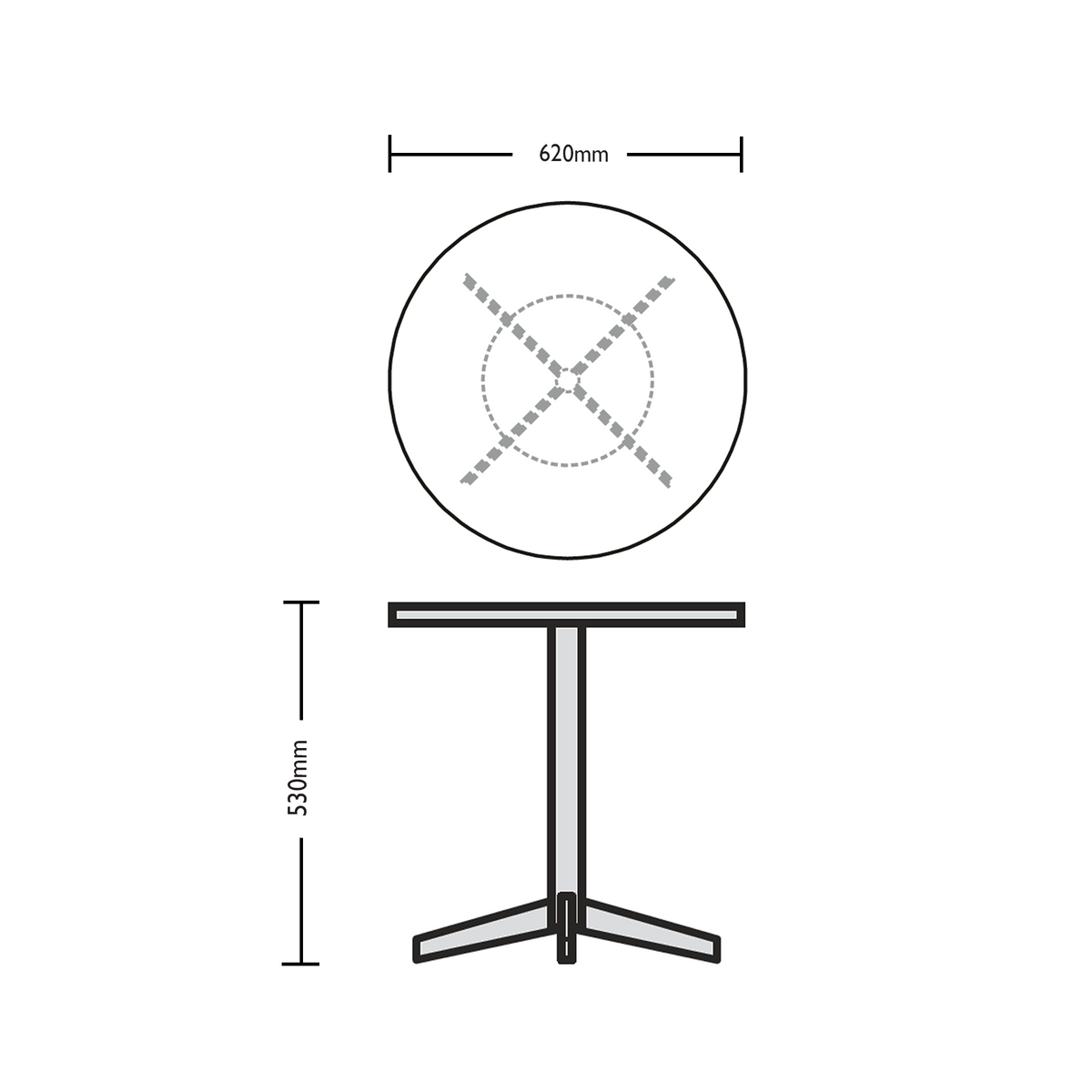 Dimensions for Edsbyn Marble Coffee Table