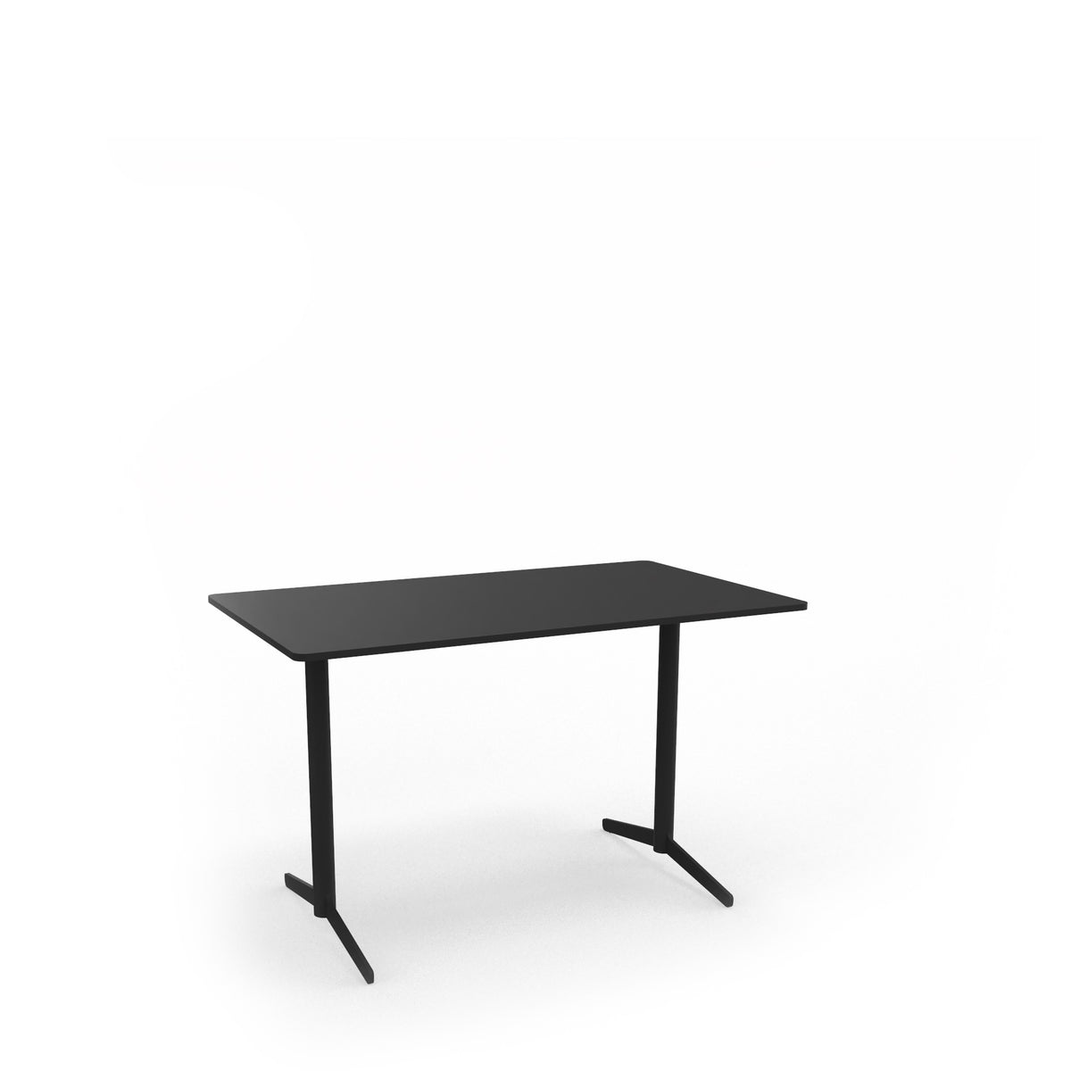 Edsbyn Office Feather Table Desktop Nero Linoleum with Black Base