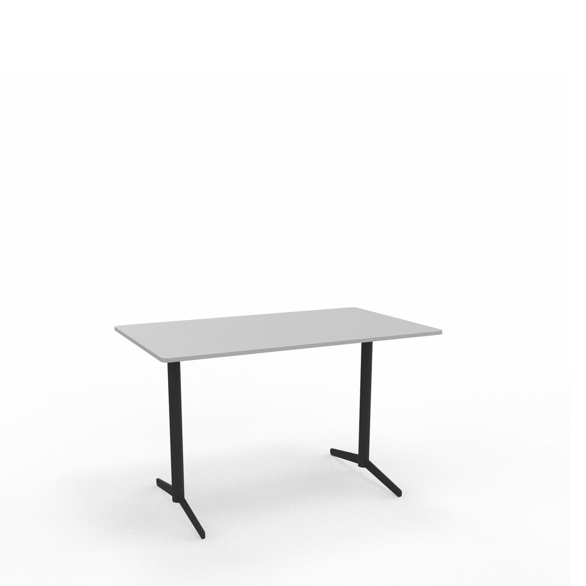 Edsbyn Office Feather Table Light Grey with Black Base