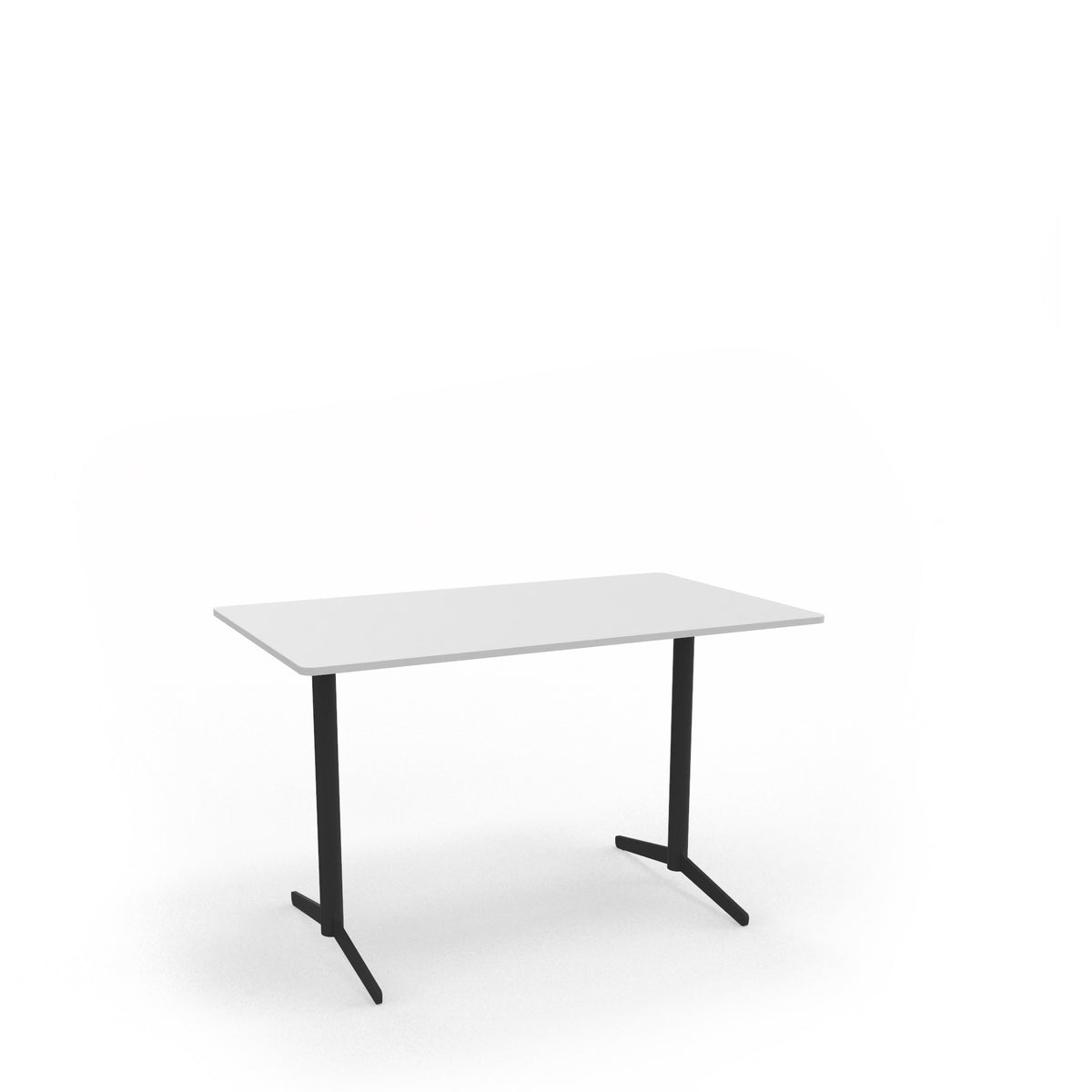 Edsbyn Office Feather Table White with Black Base