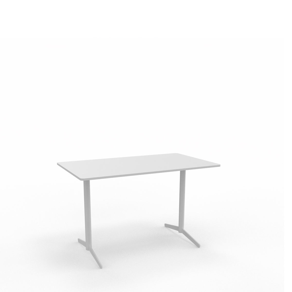 Edsbyn Office Feather Table White with White Base