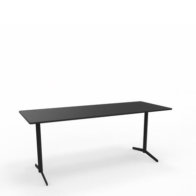 Edsbyn Office Feather Table Black with Black Base