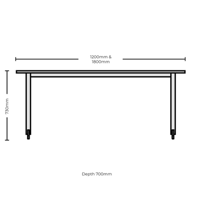 Dimensions for Edsbyn Office Feather Table