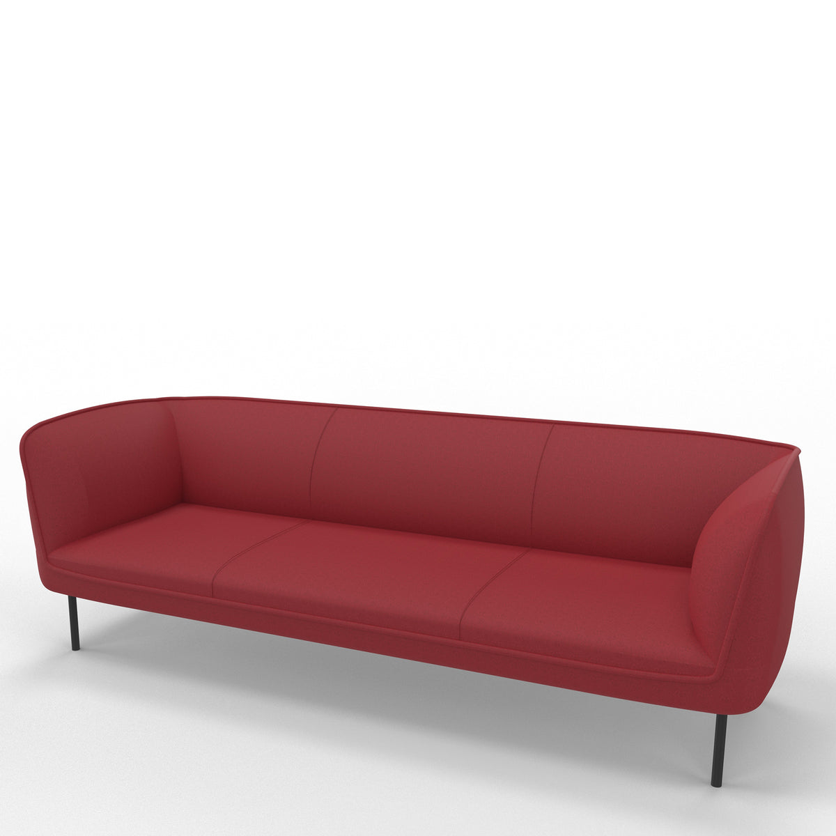 Edsbyn Gather 3 Seater Sofa Crimson