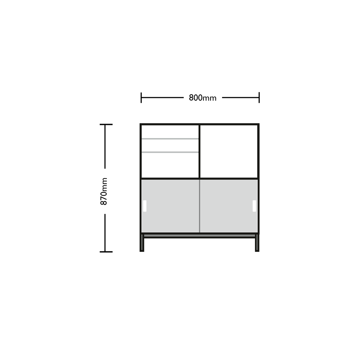 Dimensions for Edsbyn Office Neat Credenza 800m