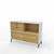 Edsbyn Office Neat Credenza 1200m White and Oak with Oak Veneer