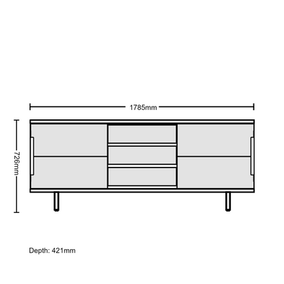 Dimensions for Edsbyn Office Part Sideboard 1800mmW
