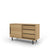 Edsbyn Office Part Sideboard 1200mmW Oak Veneer with Black Base
