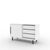 Edsbyn Office Part Sideboard 1200mmW White with Black Base
