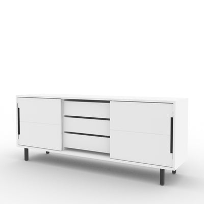 Edsbyn Office Part Sideboard 1800mmW White with Black Base
