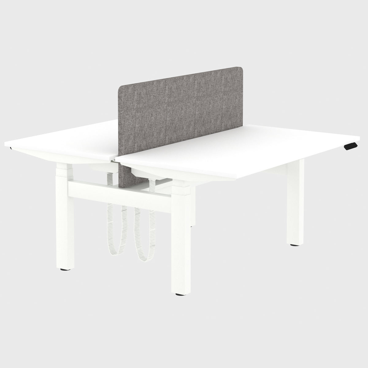 Elite Electric Office Sit Stand Desk Dual White Base White