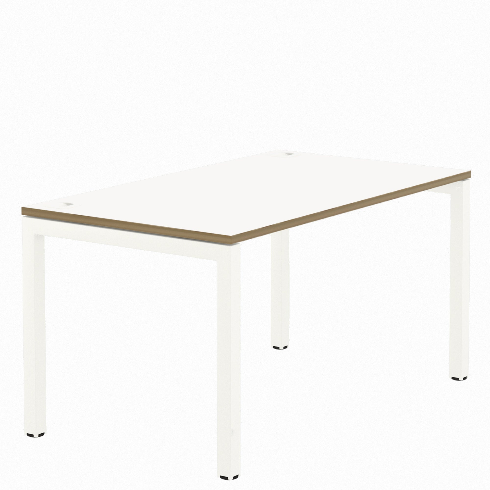 Elite Office Matrix Desk 1600mm White with Plywood Edge