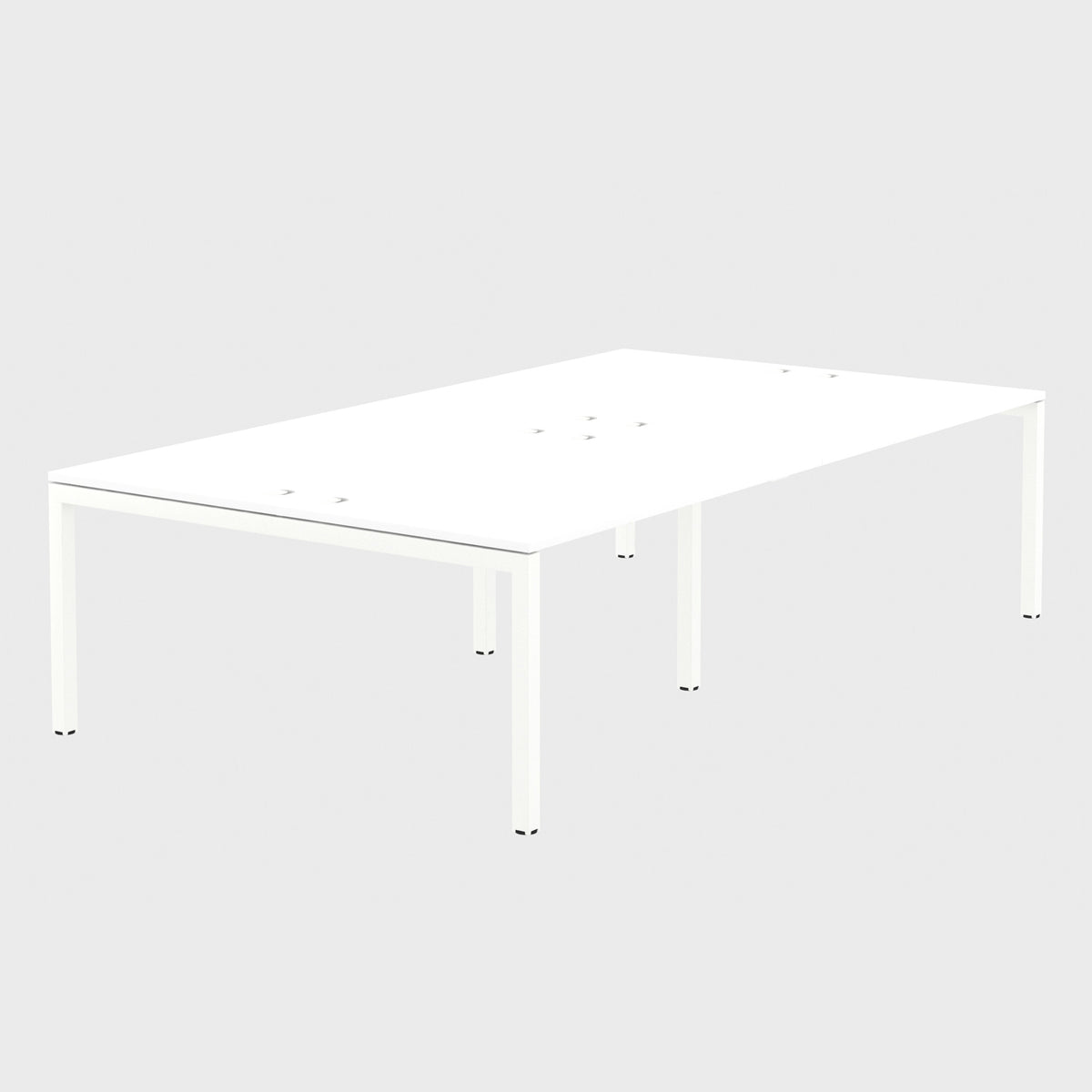 Elite Office Matrix Desk Bank of Four White with White Edge