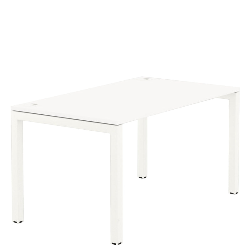Elite Office Matrix Desk 1800mm White with Plywood Edge