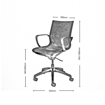 Dimensions for Connection Office Gravity Chair