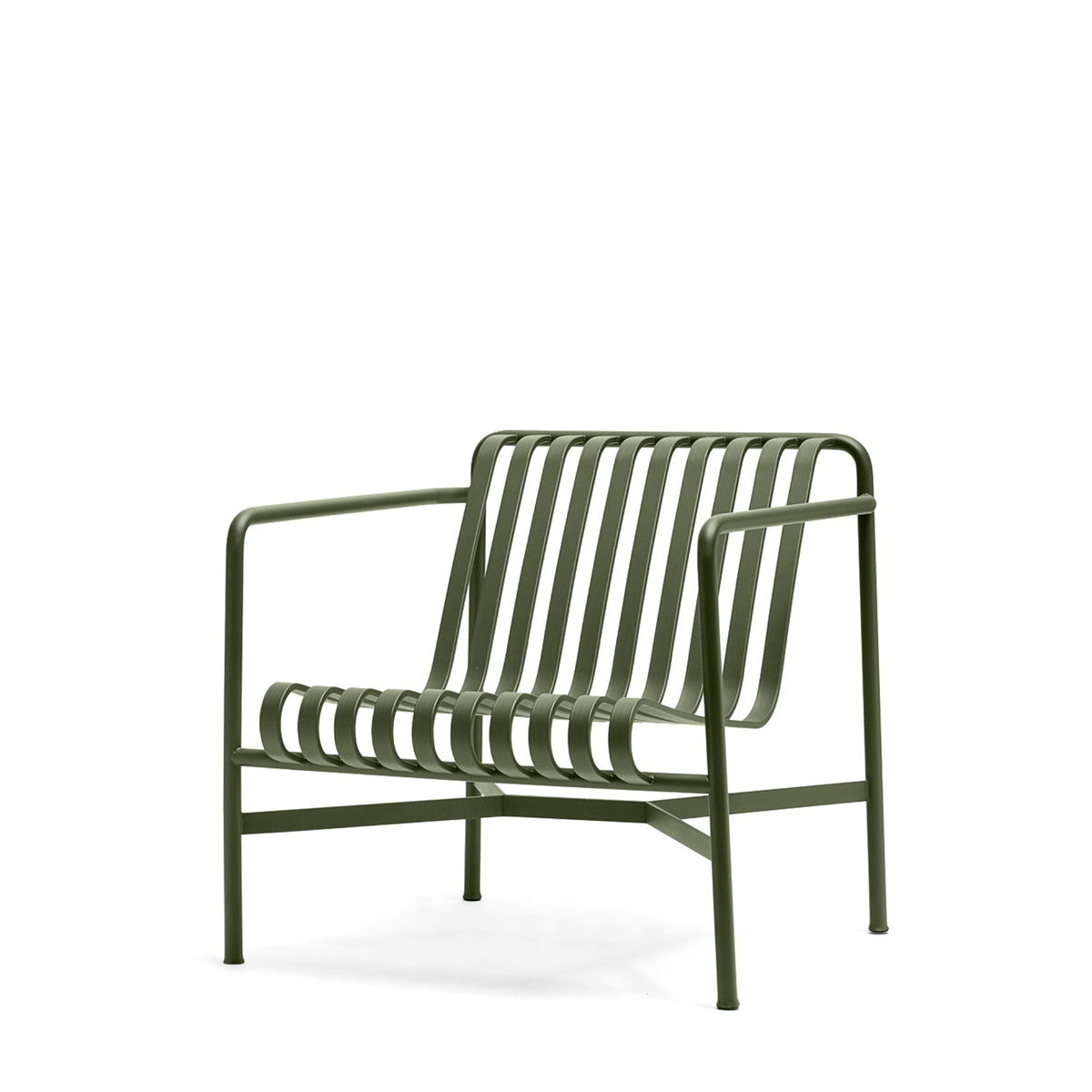 HAY Palissade Lounge Chair Low Office Olive Green