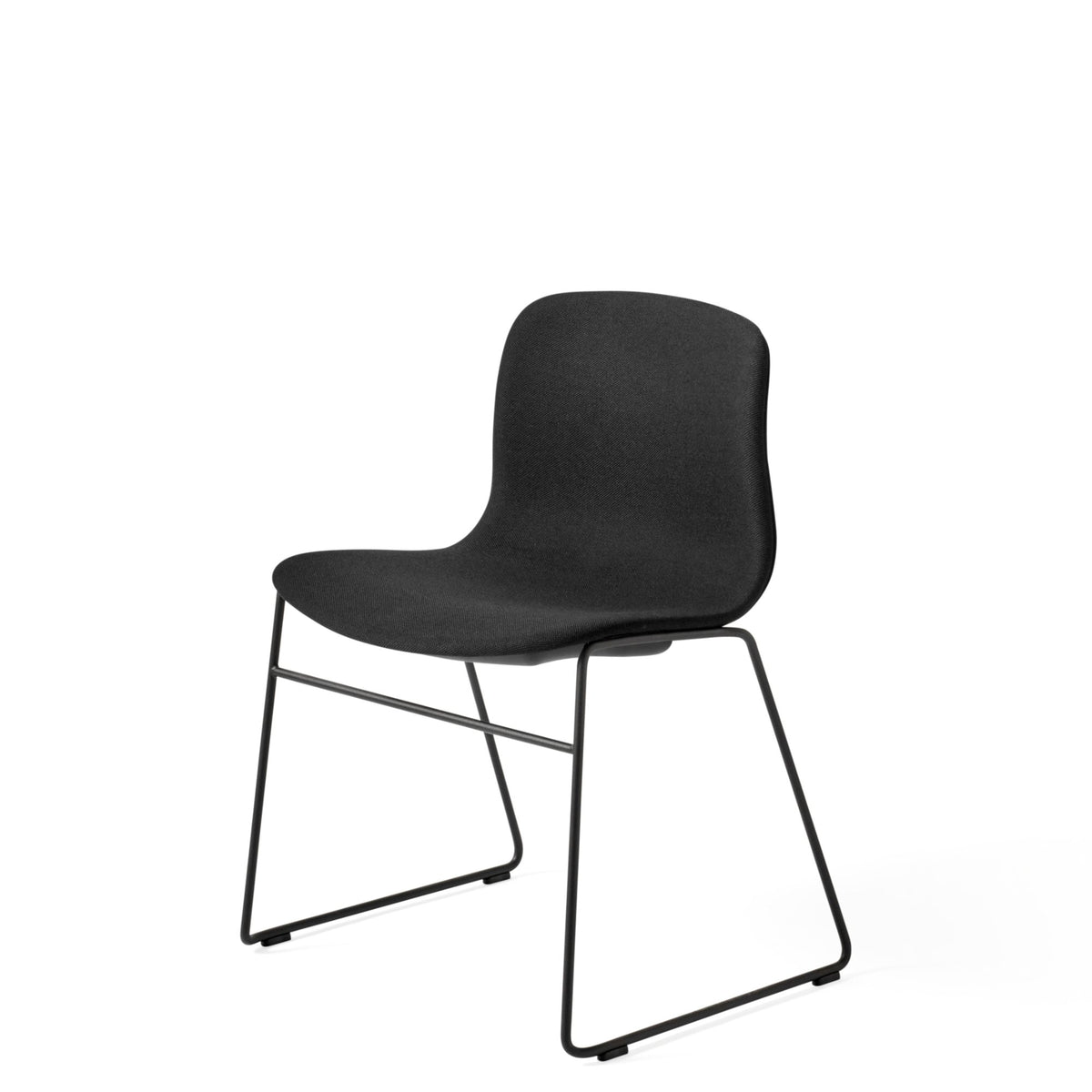 HAY About A Chair AAC 09 Steelcut 0190 Stackable Chair with Black Powder Coated Base