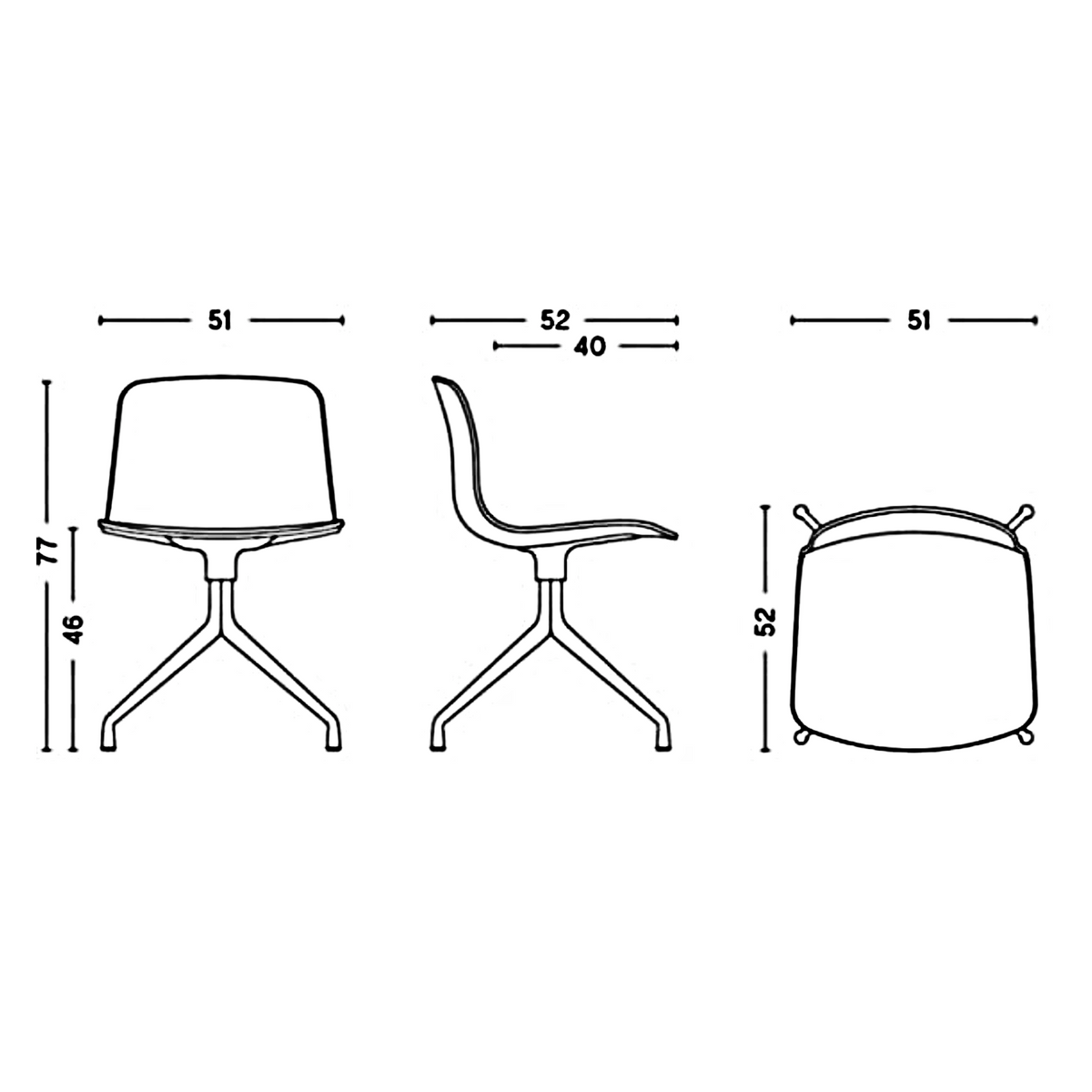 Dimensions for HAY About A Chair AAC11
