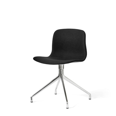 HAY About A Chair AAC11 Black Steelcut Trio 190 Chair with Polished Aluminium Base