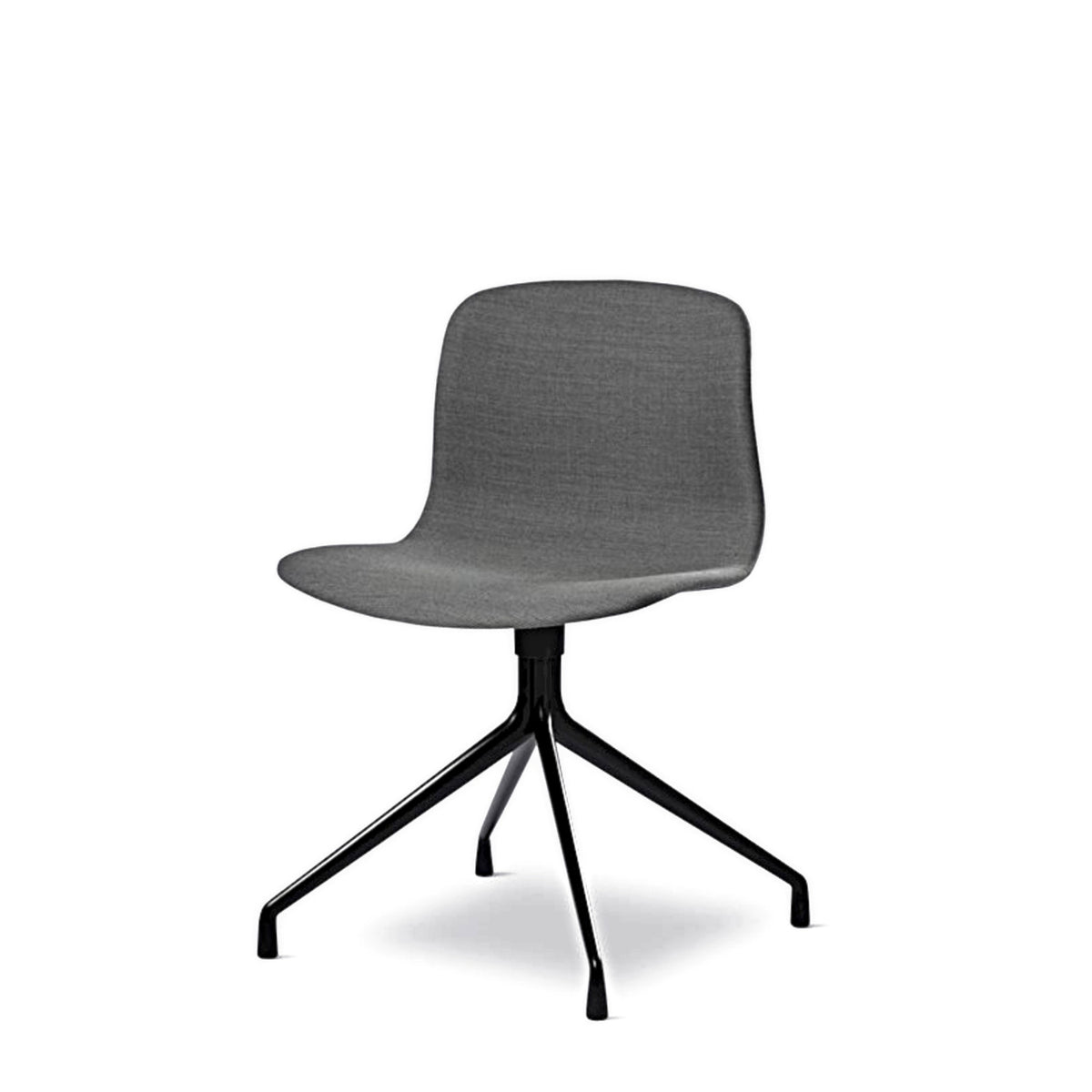 HAY About A Chair AAC11 Grey Steelcut Trio 0153 Chair with Black Powder Coated Base