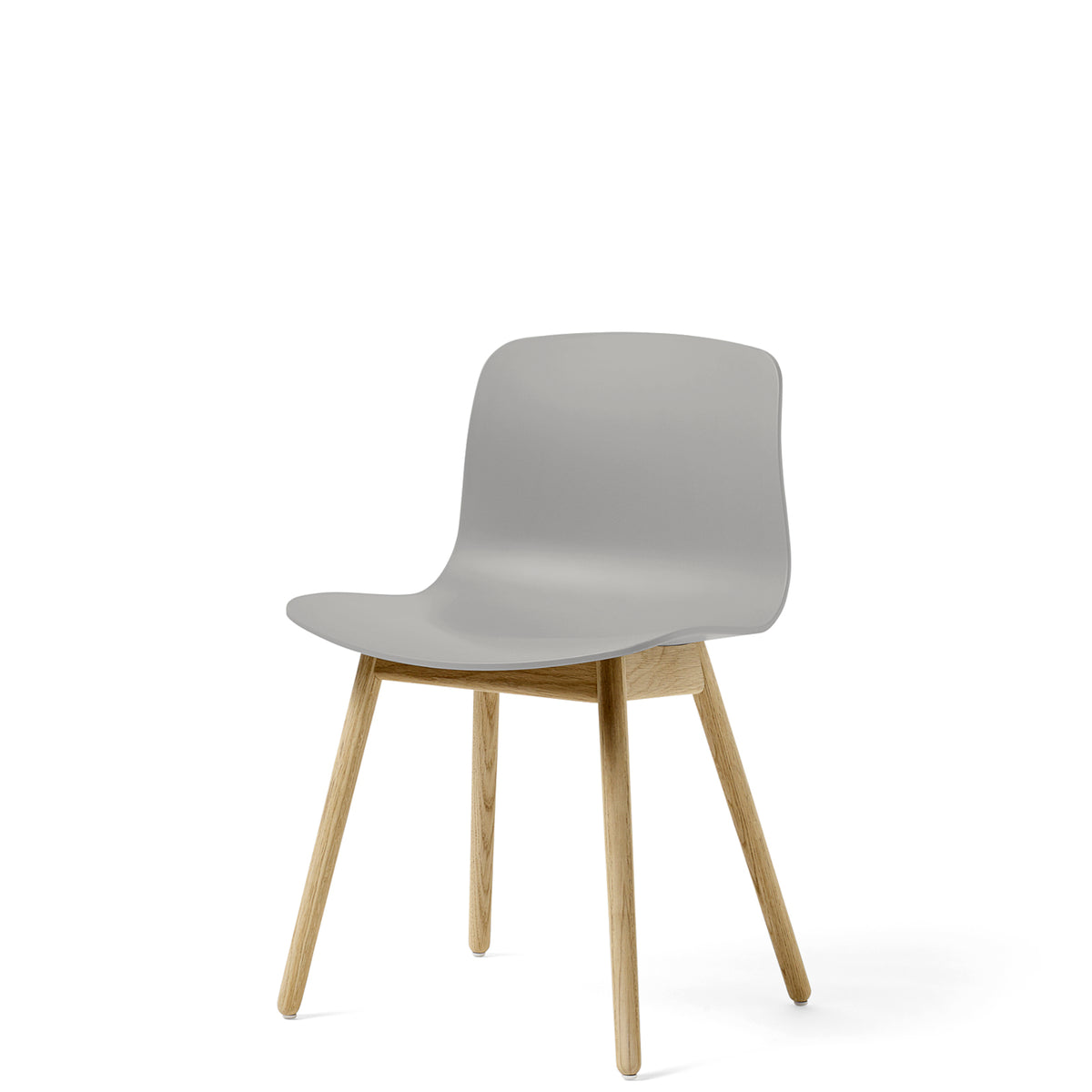 HAY About A Chair AAC12 Concrete Grey Chair with Matt Lacquered Solid Oak Frame