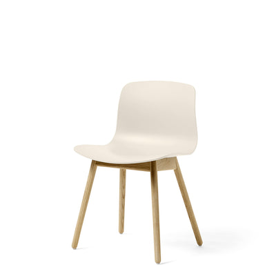 HAY About A Chair AAC12 Cream White Chair with Matt Lacquered Solid Oak Frame