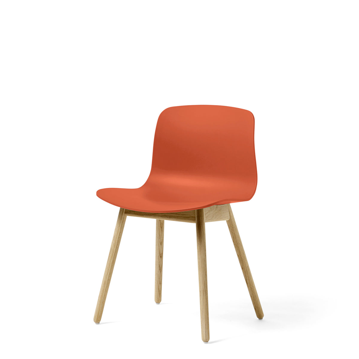 HAY About A Chair AAC12 Orange Chair with Matt Lacquered Solid Oak Frame