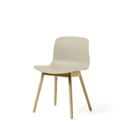 HAY About A Chair AAC12 Pastel Blue Chair with Matt Lacquered Solid Oak Frame