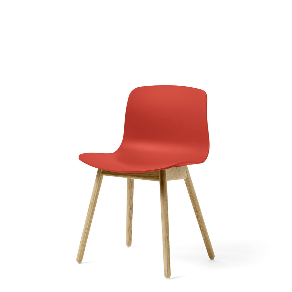 HAY About A Chair AAC12 Warm Red Chair with Matt Lacquered Solid Oak Frame