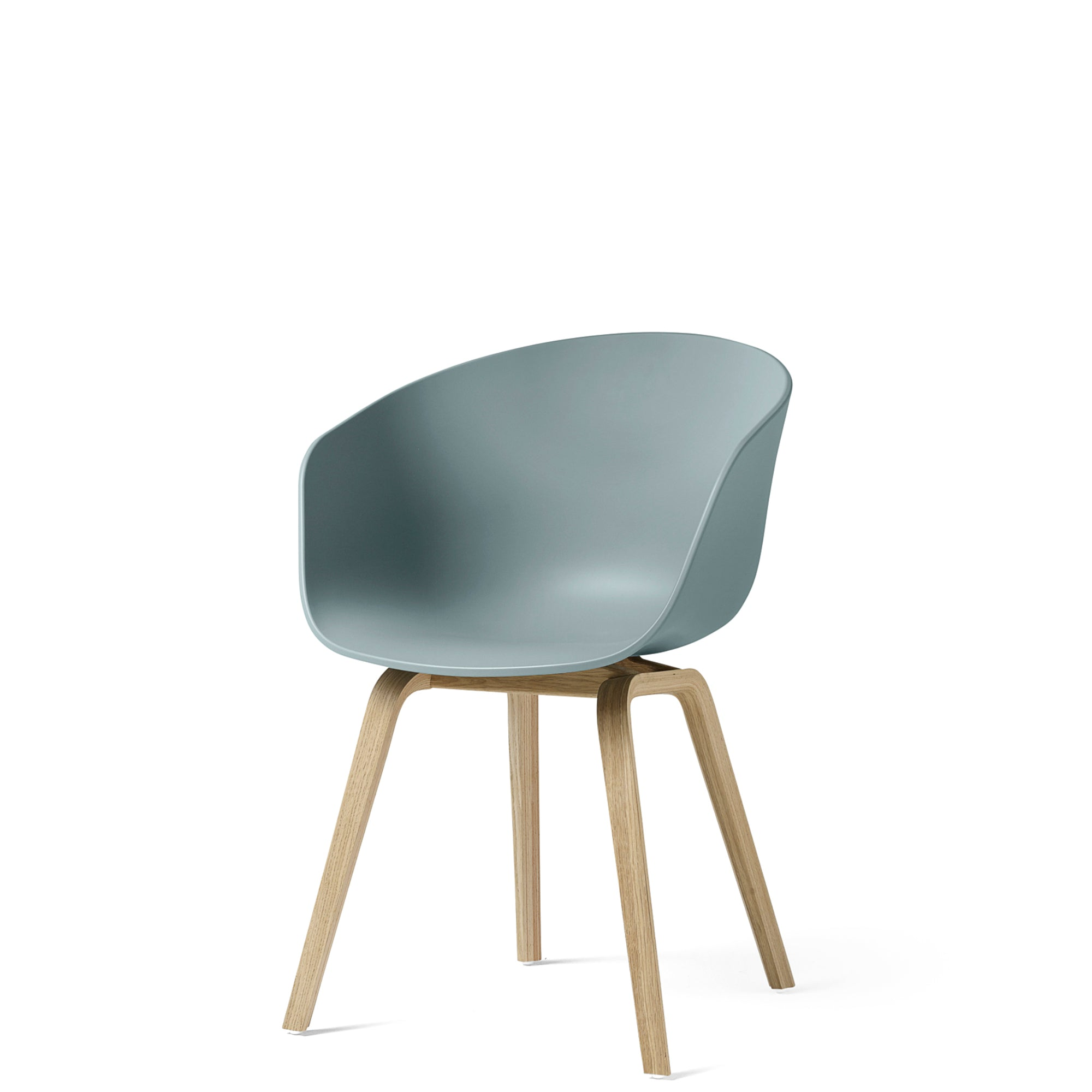 HAY About A Chair AAC22 Dusty Blue with Matt Lacquered Oak Base