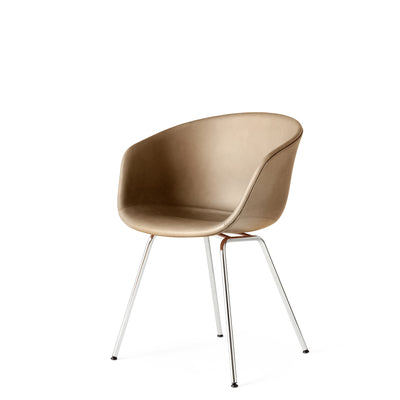 HAY Office About a Chair AAC27, Leather Upholstery Silk Leather with Chrome Base