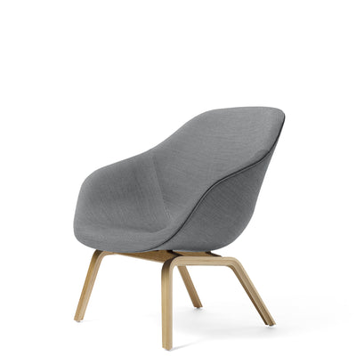 HAY About A Lounge Chair AAL83 Surface 0150 with Clear Lacquered Oak Base  Base