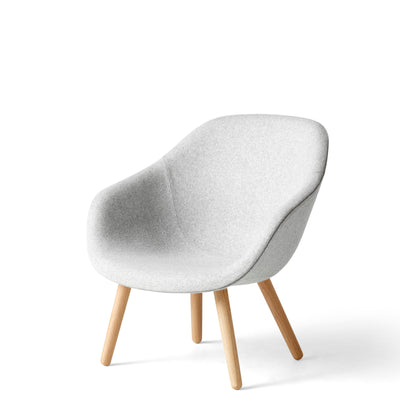 HAY About A Chair AAL82 Divina Melange 0120 Without Cushion with Matt Lacquered Oak Base