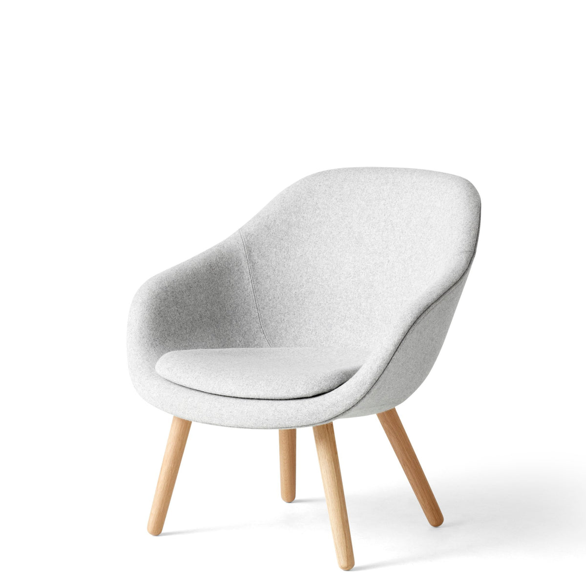 HAY About A Chair AAL82 Divina Melange 0120 With Cushion with Matt Lacquered Oak Base