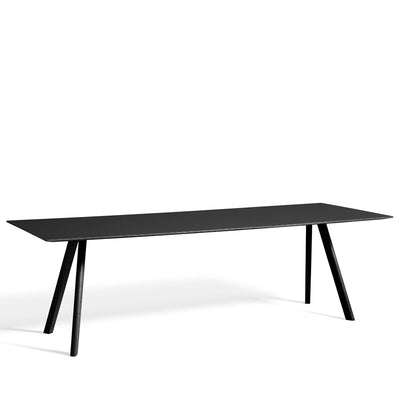 HAY CPH Table 2500mm Forbo Nero 4023 with Black Stained Oak Base