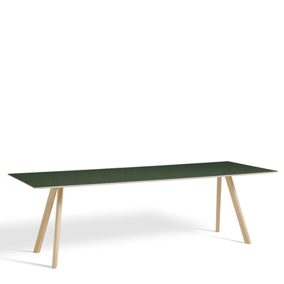 HAY CPH Table 2500mm Forbo Conifer 4174 with Matt Lacquered Oak Base