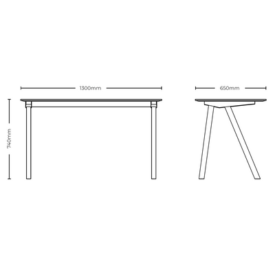 Dimensions for HAY CPH 90 Desk