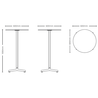 Dimensions for HAY Outdoor Neu Table
