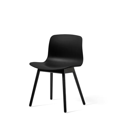 HAY About A Chair AAC12 Black with Black Stained Solid Oak Frame