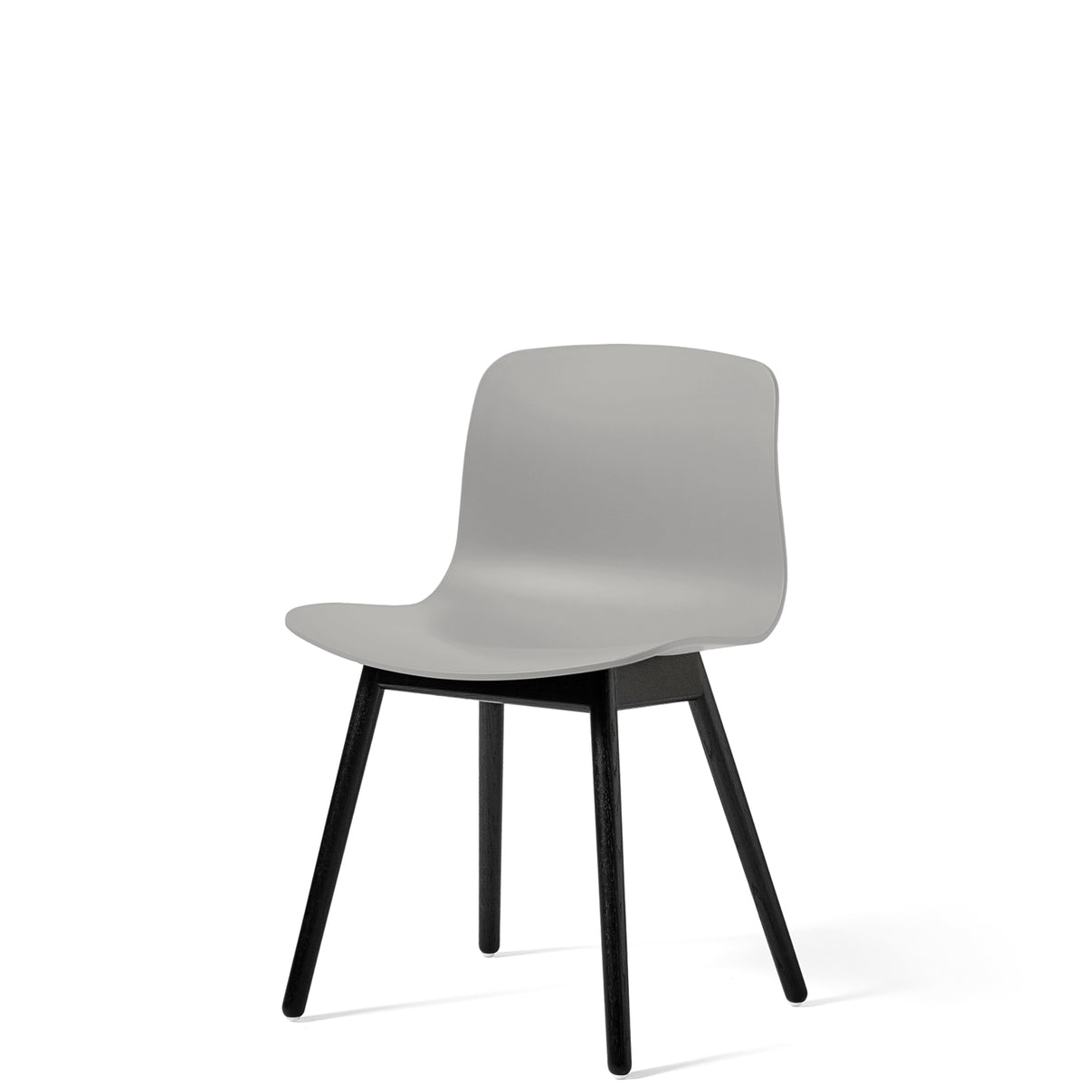 HAY About A Chair AAC12 Concrete Grey with Black Stained Solid Oak Frame
