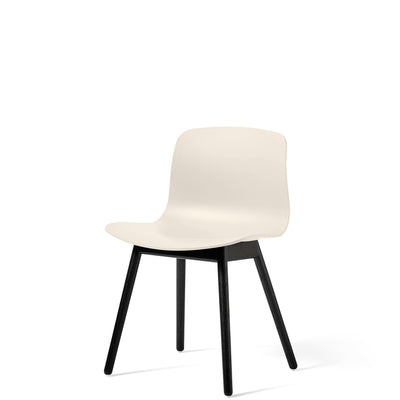 HAY About A Chair AAC12 Cream White with Black Stained Solid Oak Frame