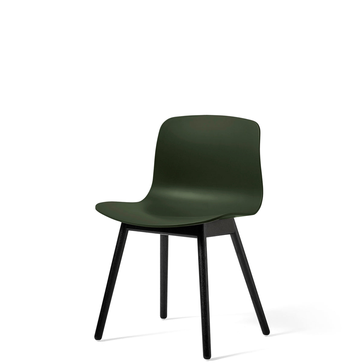HAY About A Chair AAC12 Green with Black Stained Solid Oak Frame
