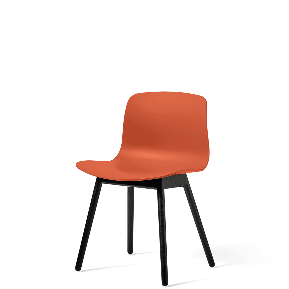 HAY About A Chair AAC12 Orange with Black Stained Solid Oak Frame
