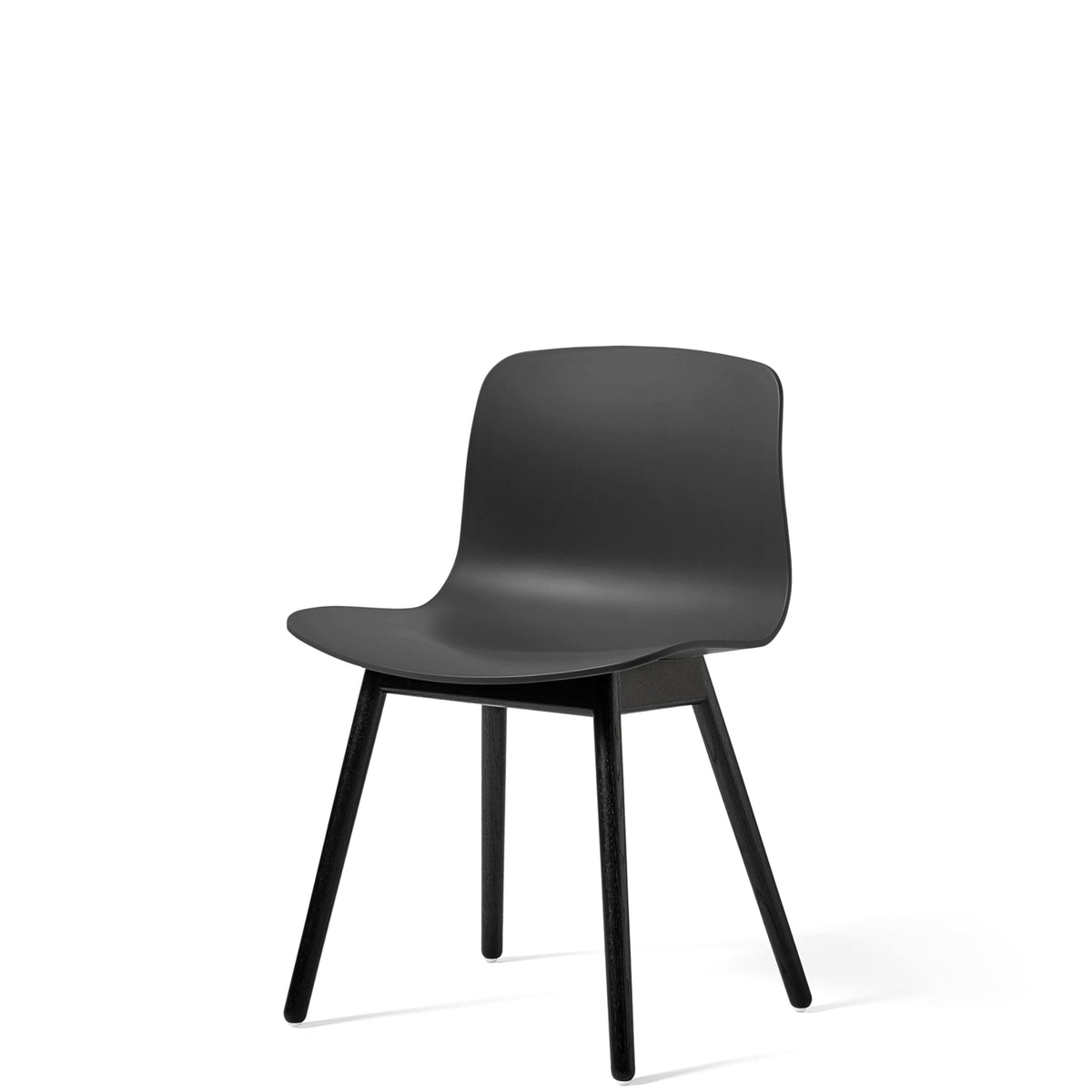 HAY About A Chair AAC12 Soft Black with Black Stained Solid Oak Frame