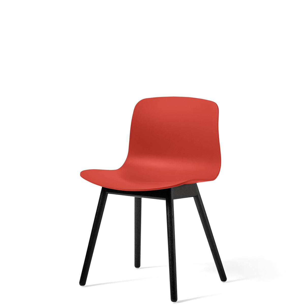 HAY About A Chair AAC12 Warm Red with Black Stained Solid Oak Frame