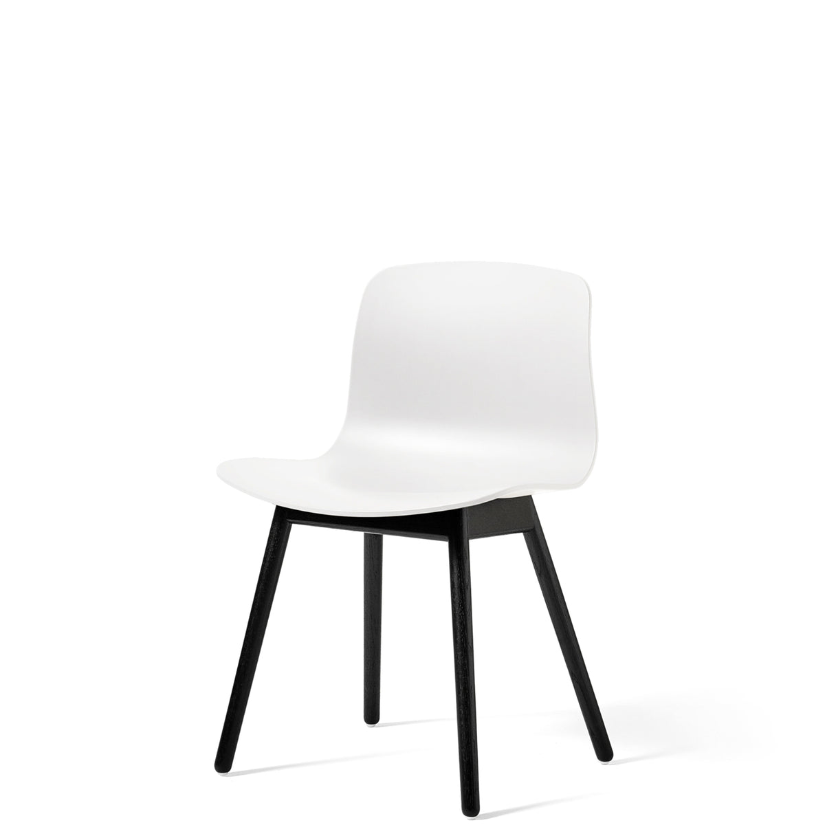 HAY About A Chair AAC12 White Chair with Black Stained Solid Oak Frame