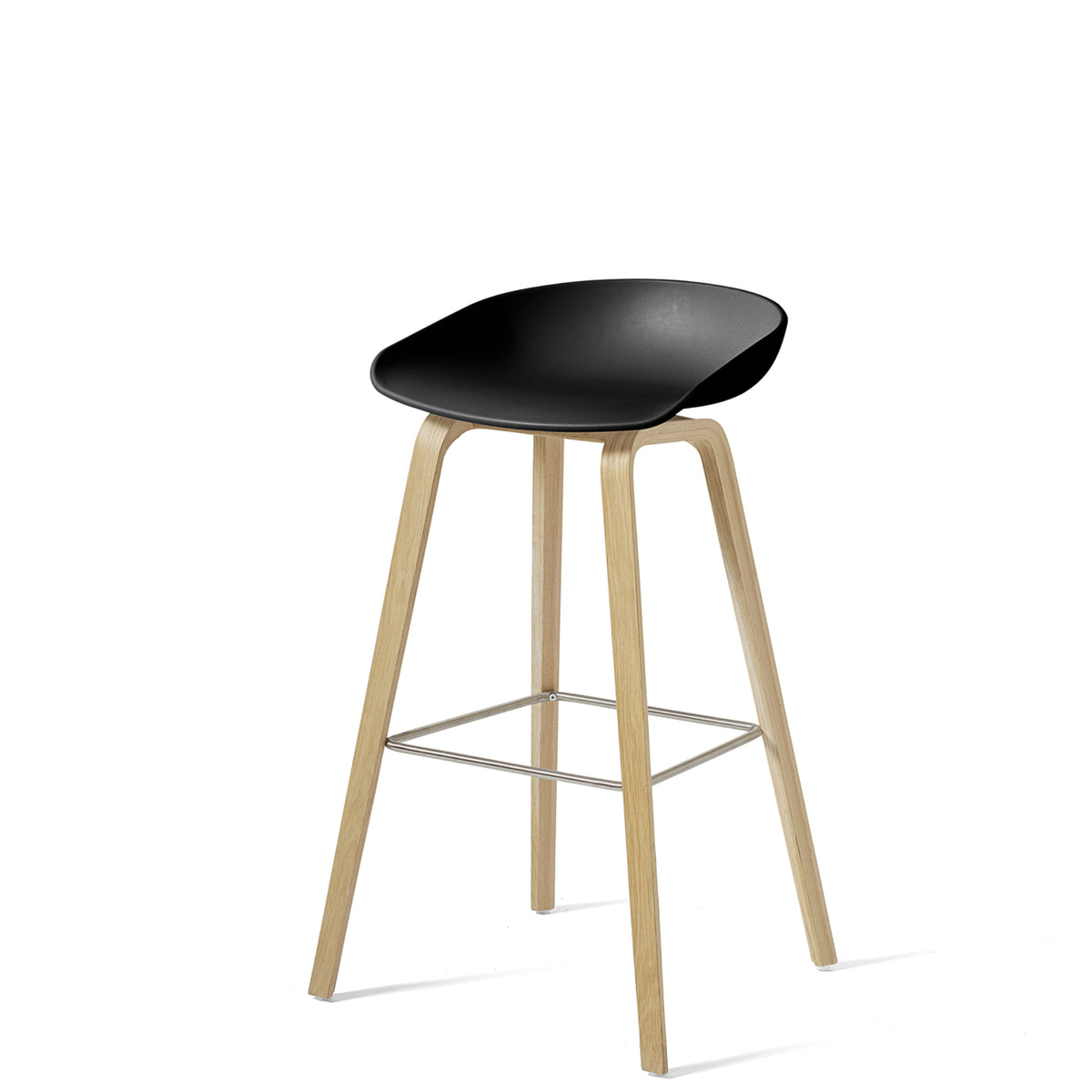 HAY About A Stool AAS32 850mm Black Matt Lacquered Oak Base